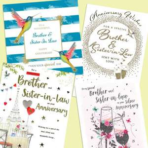 A Selection Of Cards To Show The Depth Of Range In Our Brother And Sister In Law Anniversary Section