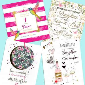A Selection Of Cards To Show The Depth Of Range In Our Daughter And Son Anniversary Section
