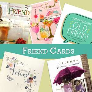 A Selection Of Cards To Show The Depth Of Range In Our Friend Birthday Section