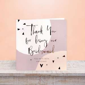 Bridesmaid Wedding Day Greeting Card On The Shelf