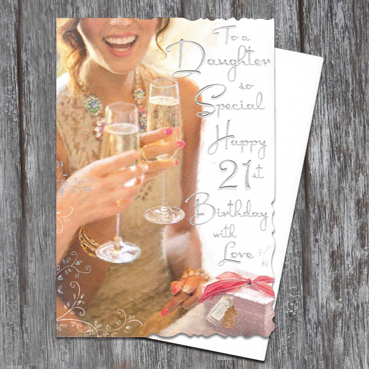 Daughter Age 21 Birthday Card Full Image