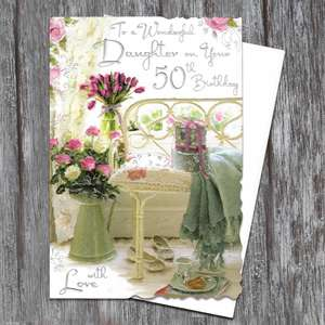 Daughter Age 50th Birthday Card Full Image