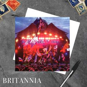 Glastonbury Festival Blank Greeting Card