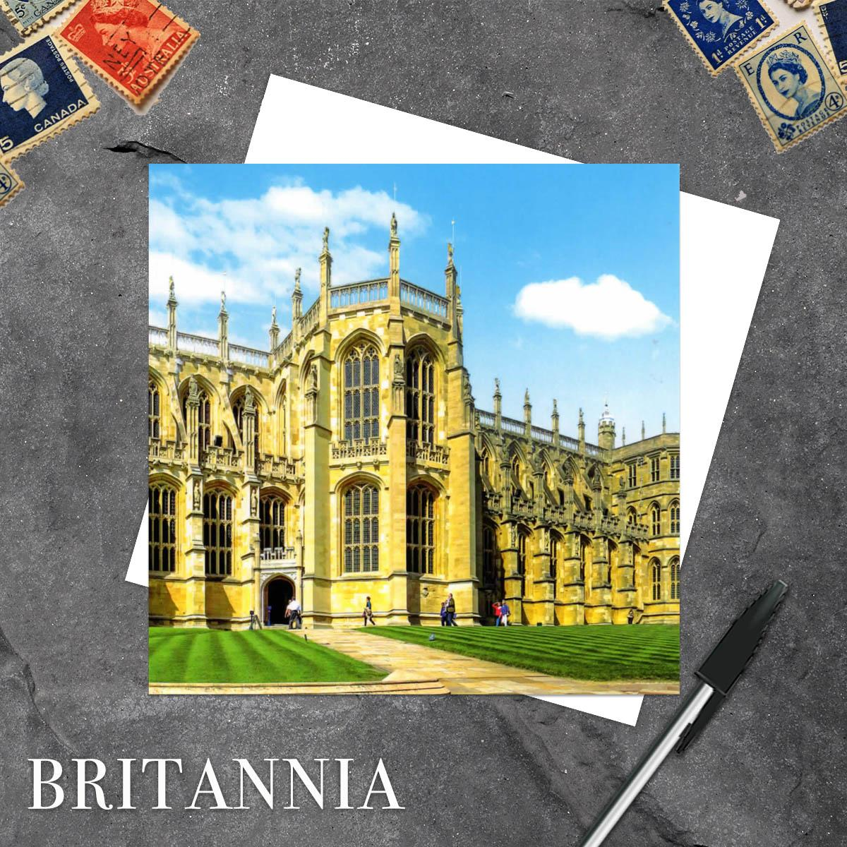 St Georges Chapel, Windsor Castle Blank greeting Card