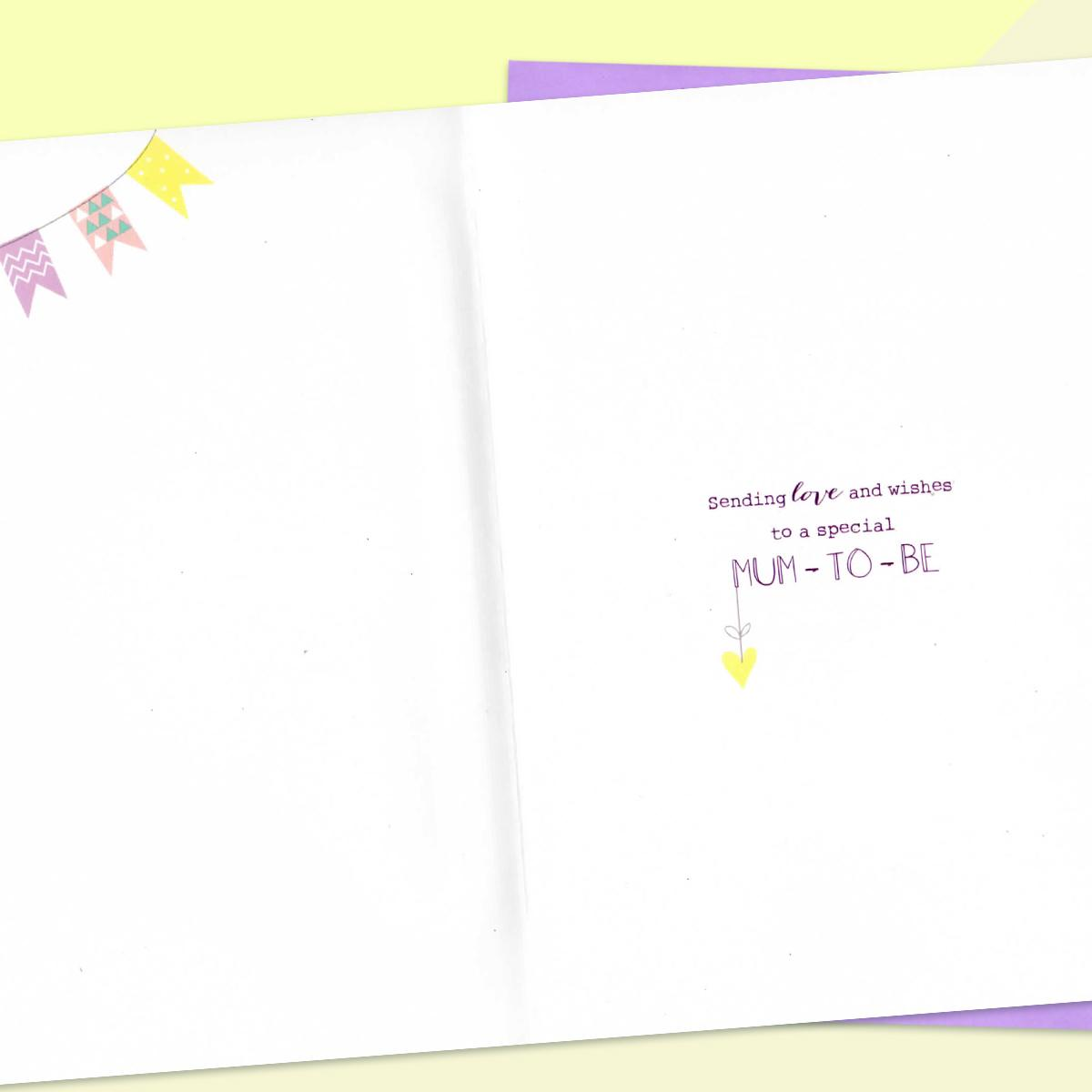 Mum To Be Card Alongside Its Lilac Envelope