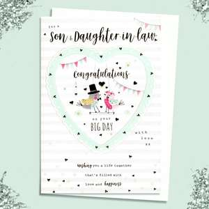 A Selection Of Cards To Show The Depth Of Range In Our Son And Daughter Wedding Cards Section