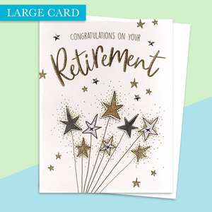 Retirement Large Card Alongside Its White Envelope