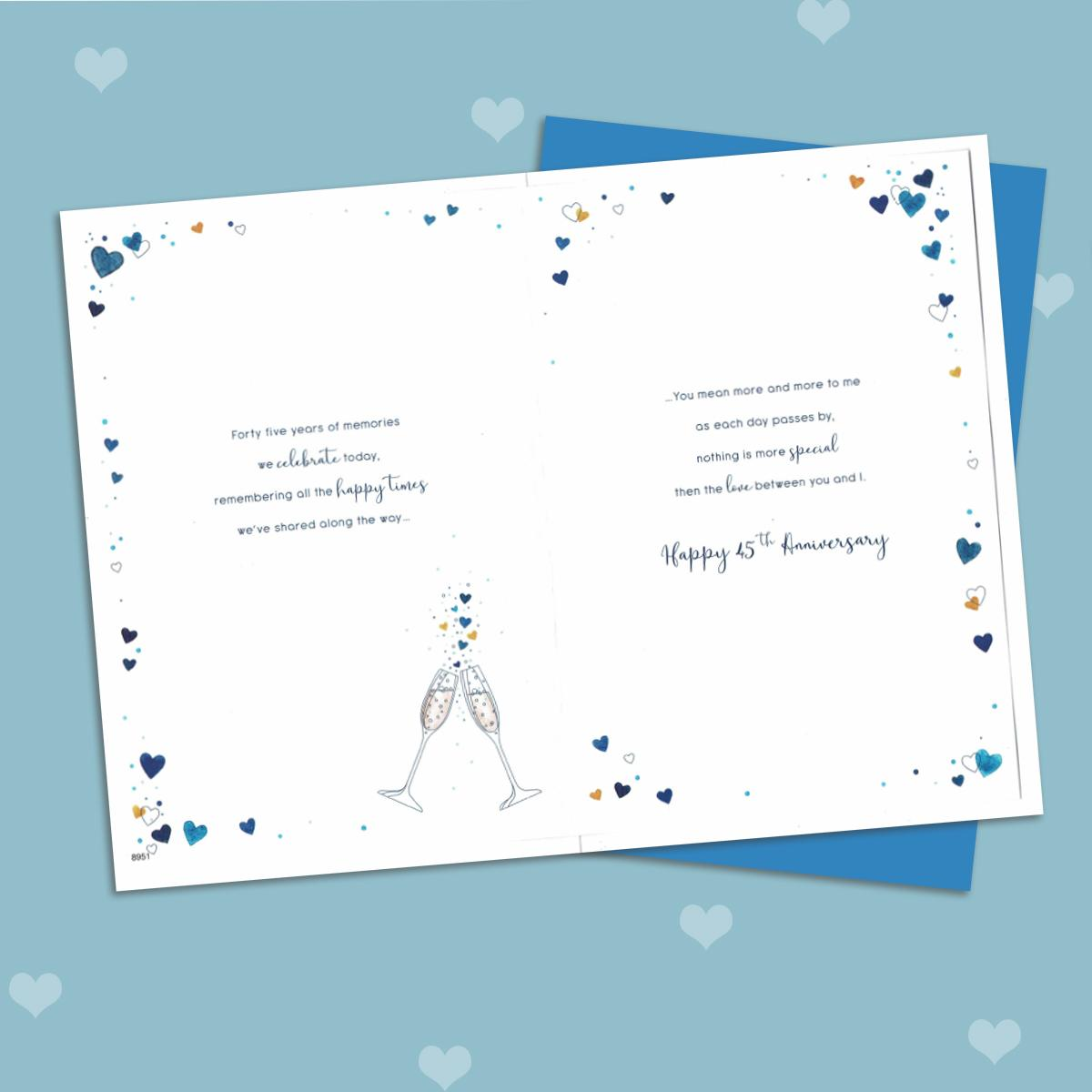 Inside Image Of Husband 45th Anniversary Card
