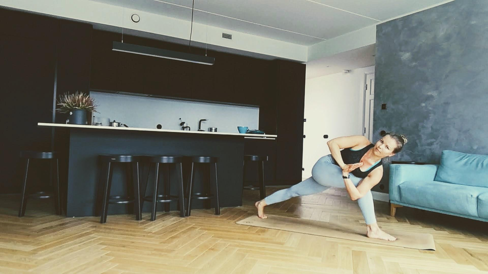 yoga at home with CorkYogis