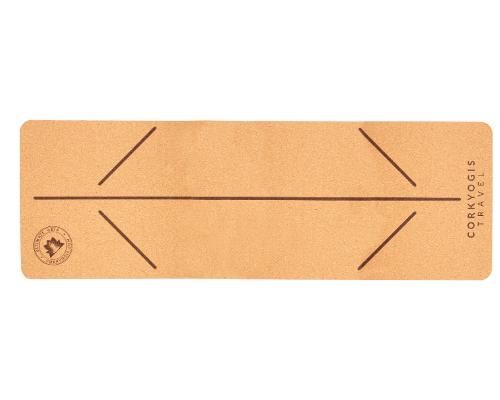 cork travel mat UK alignment lines
