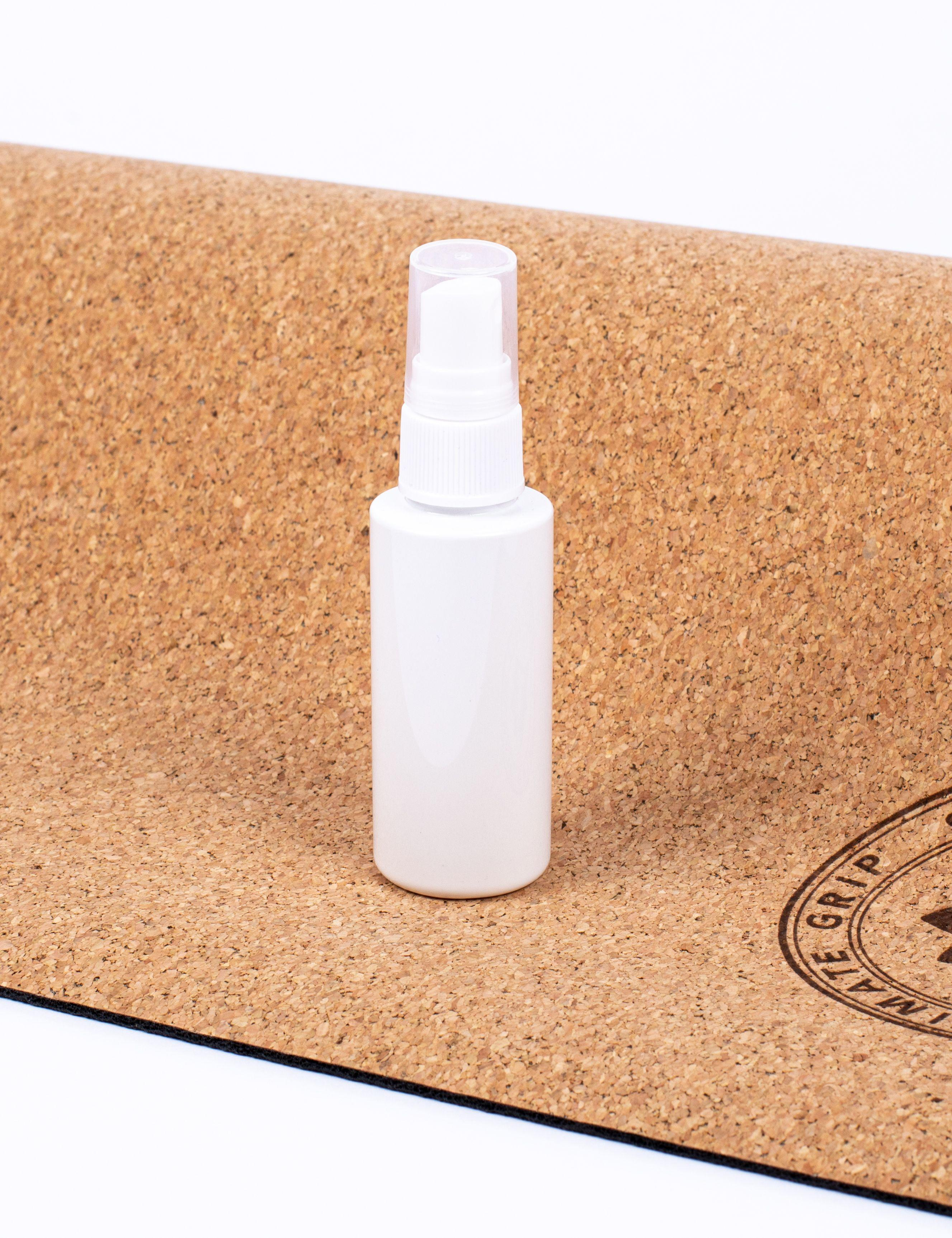 Spray bottle for yoga mat grip and cleaning