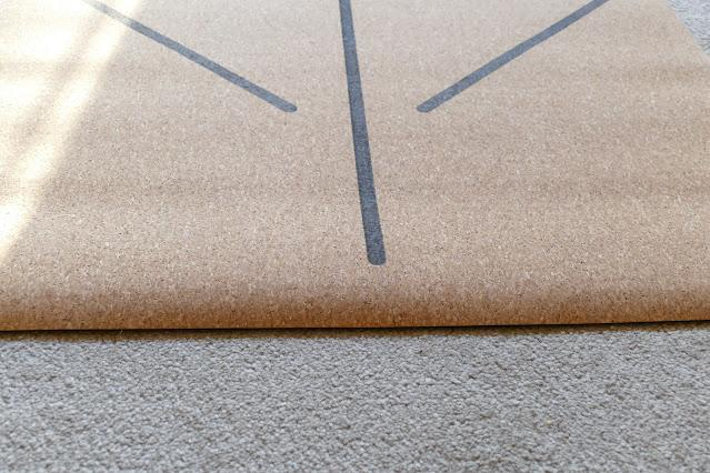 Classic Cork Yoga Mat with Lines