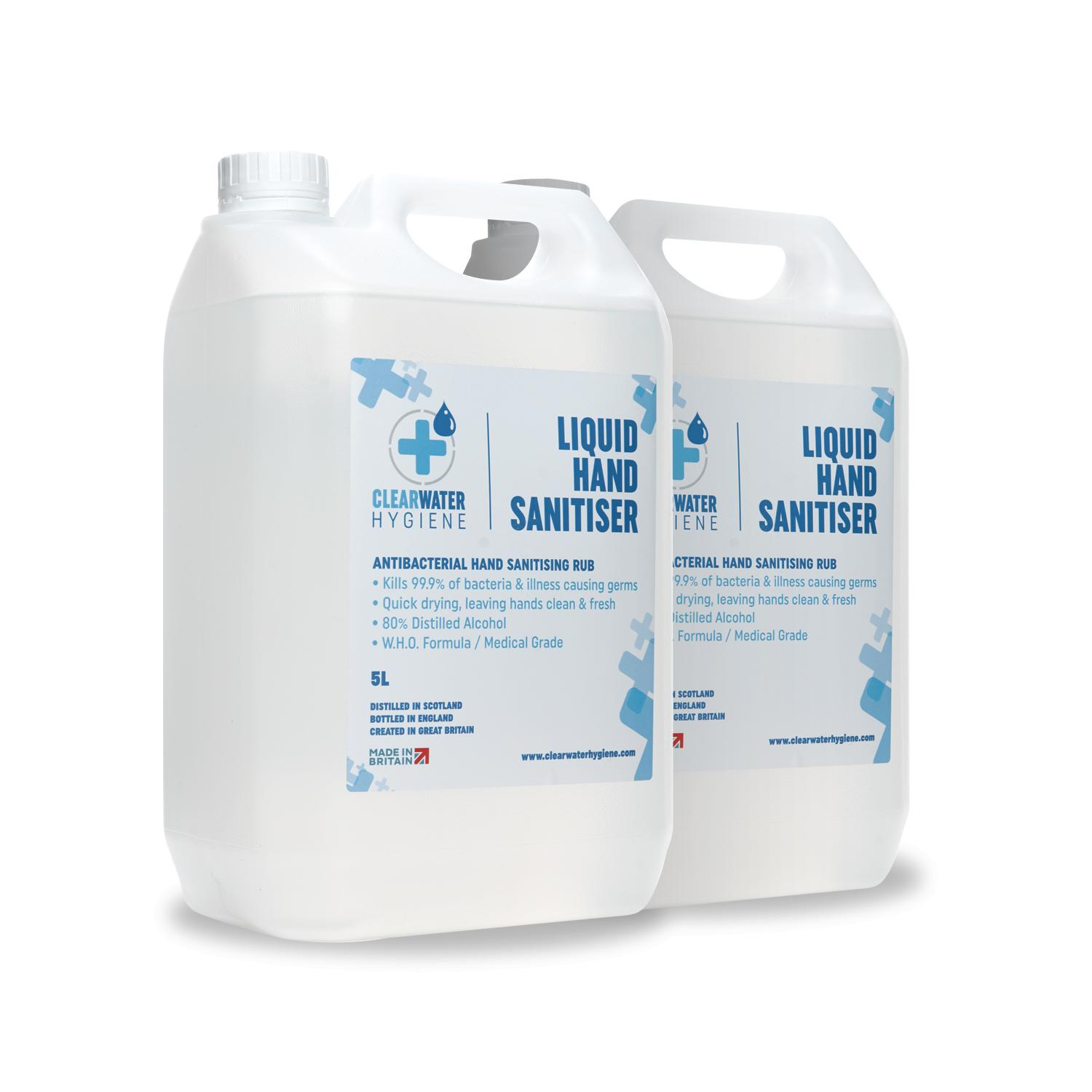 5L hand sanitisers multipack