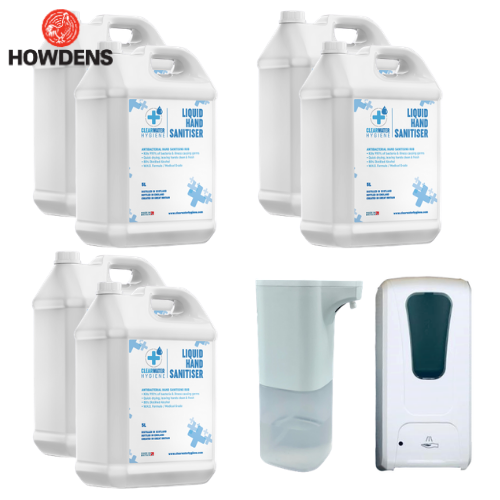 Howdens Dispenser + 30 Litre Bulk Hand Sanitiser Bundle