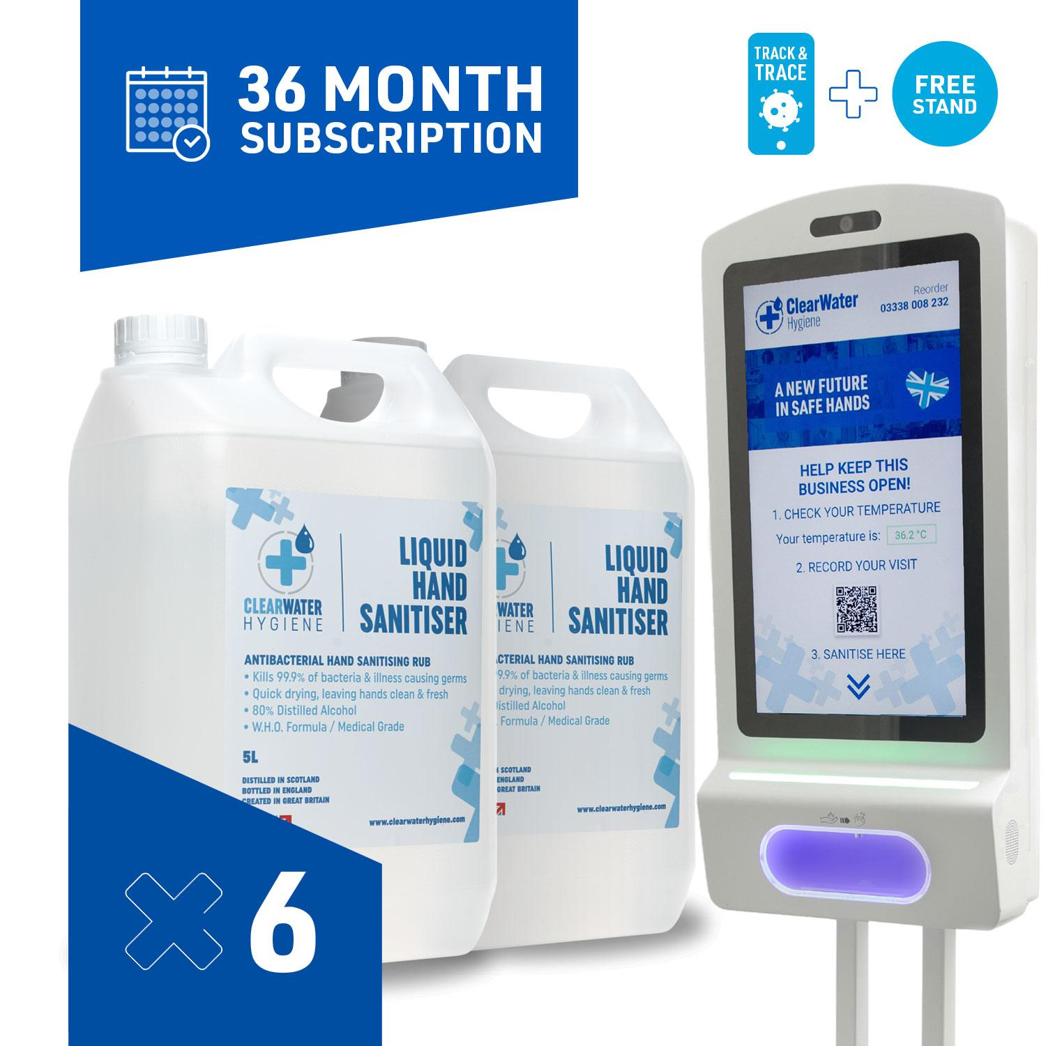 Managed Service (36 Month Subscription): 30 Litres per month + Smart Stand with built-in thermometer