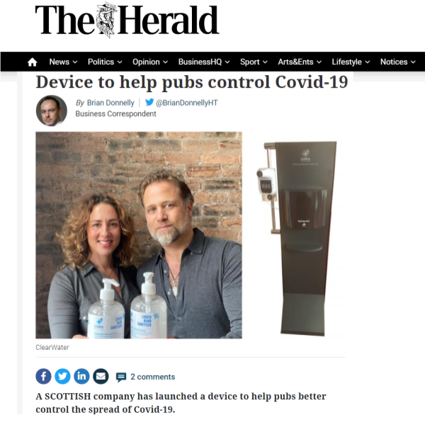 The Herald publishes news story on ClearWater Hygiene