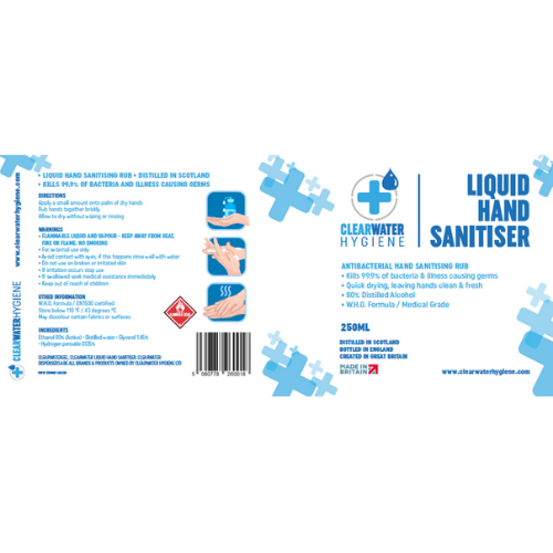 box of 250ml hand sanitiser UK