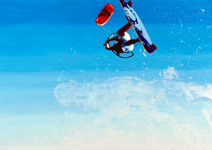 Kite Surfer painting