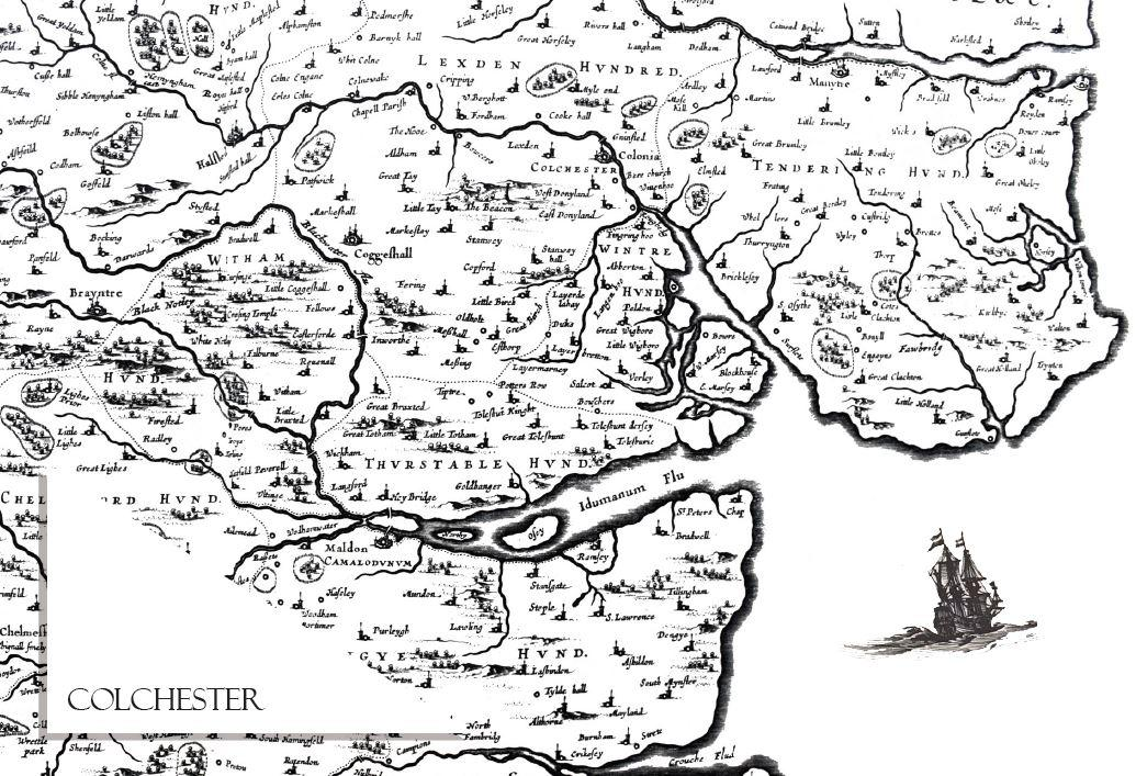Colchester Map Notecard