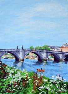 Painting of Richmond Bridge London