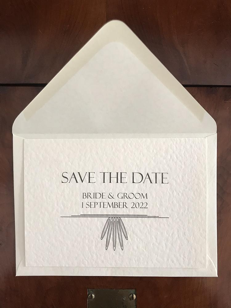 Contemporary Art Deco Save the Date Cards