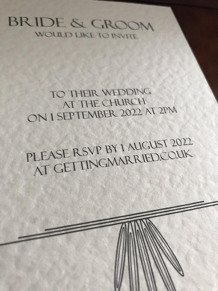 Ivory Wedding Invite Contemporary Typography