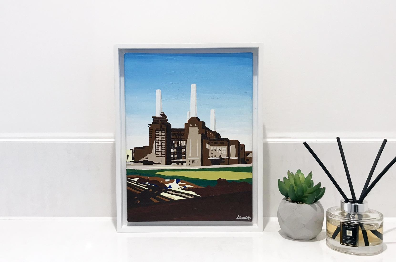 Contemporary Battersea power station painting