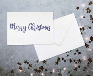 Merry Christmas calligraphy card