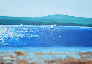 Lepe Beach art print