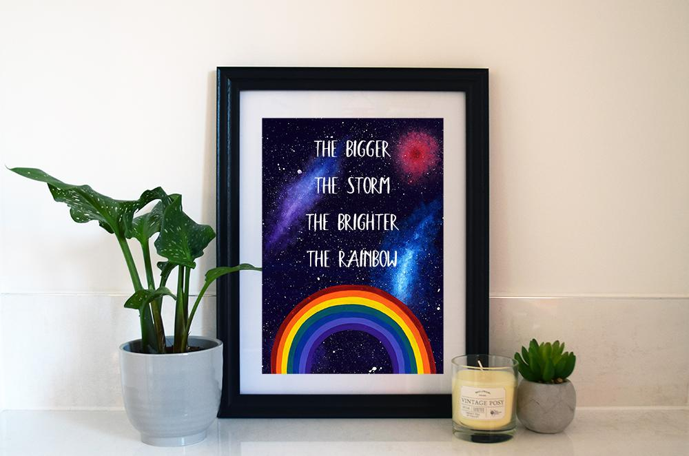 Rainbow art print by Lucinda Art