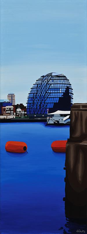 London City Hall painting