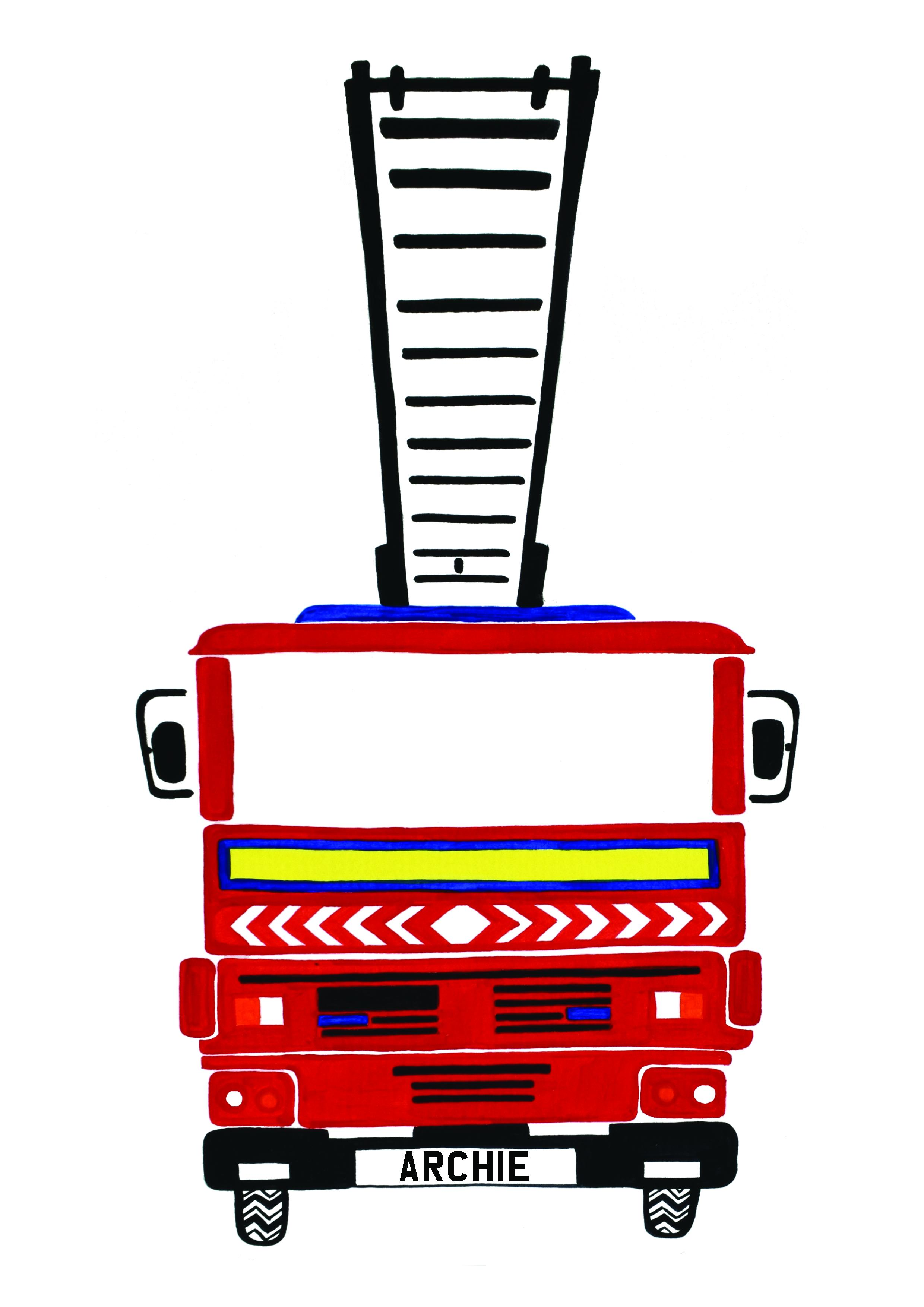 Fire engine nursery decor