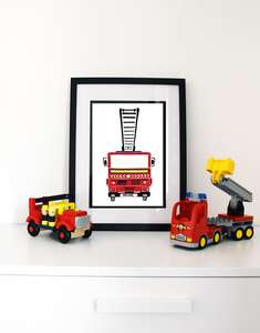 Fire engine for nursery