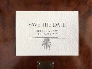Contemporary Art Deco Save the Date Design