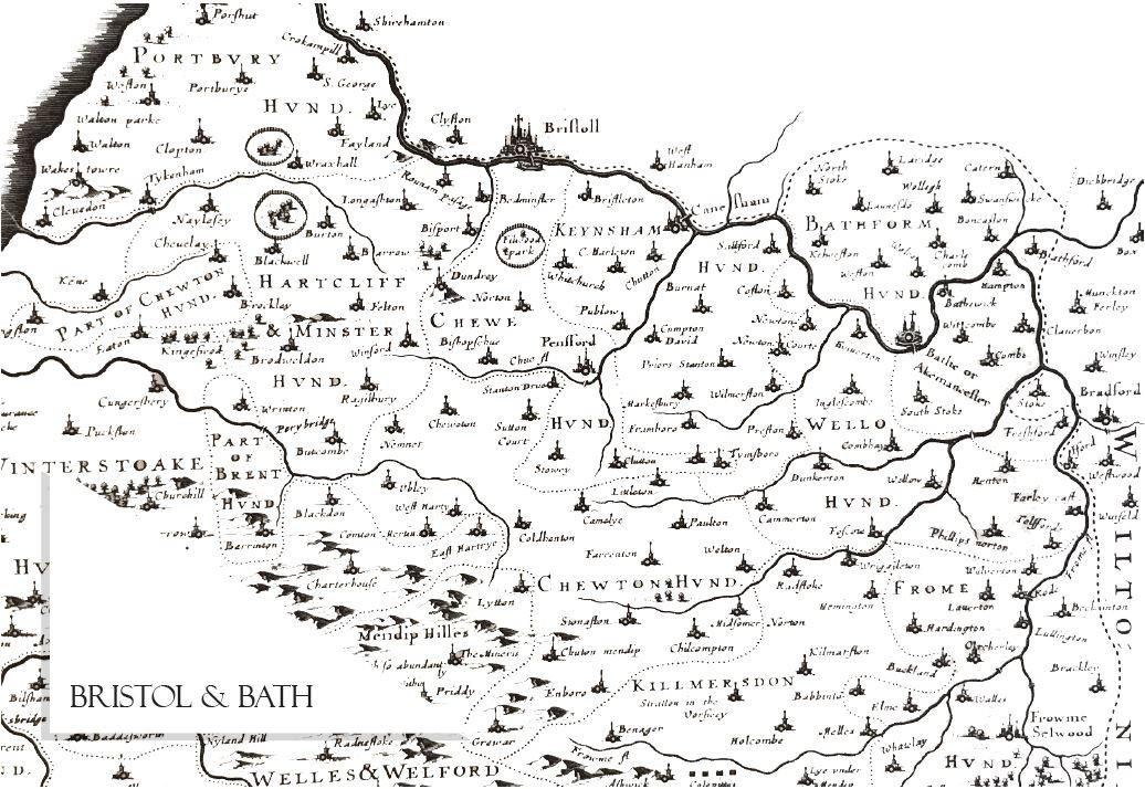 Bristol and Bath Map Notecard