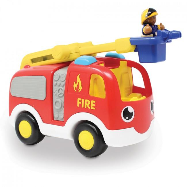 Fire truck set with ladder and figure.
