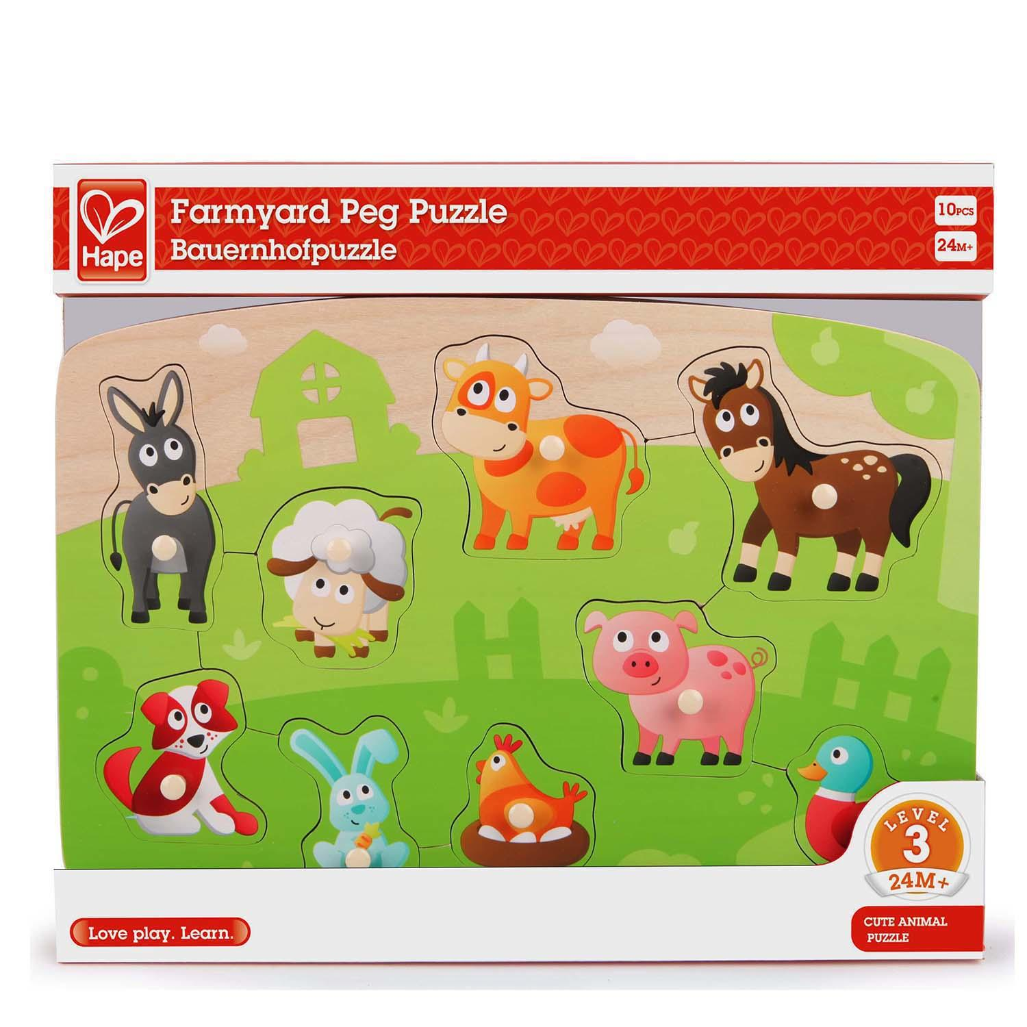Packaging for farmyard puzzle.