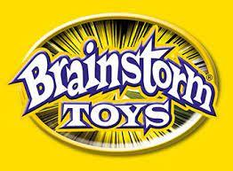 Yellow and black Brainstorm Toys logo.