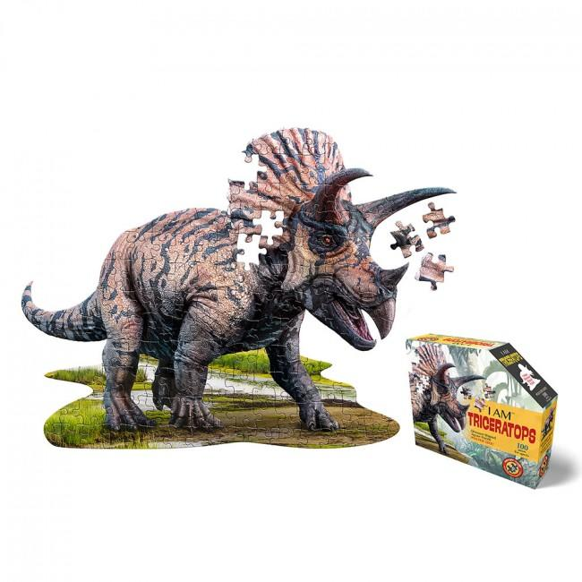 Triceratops-shaped puzzle.