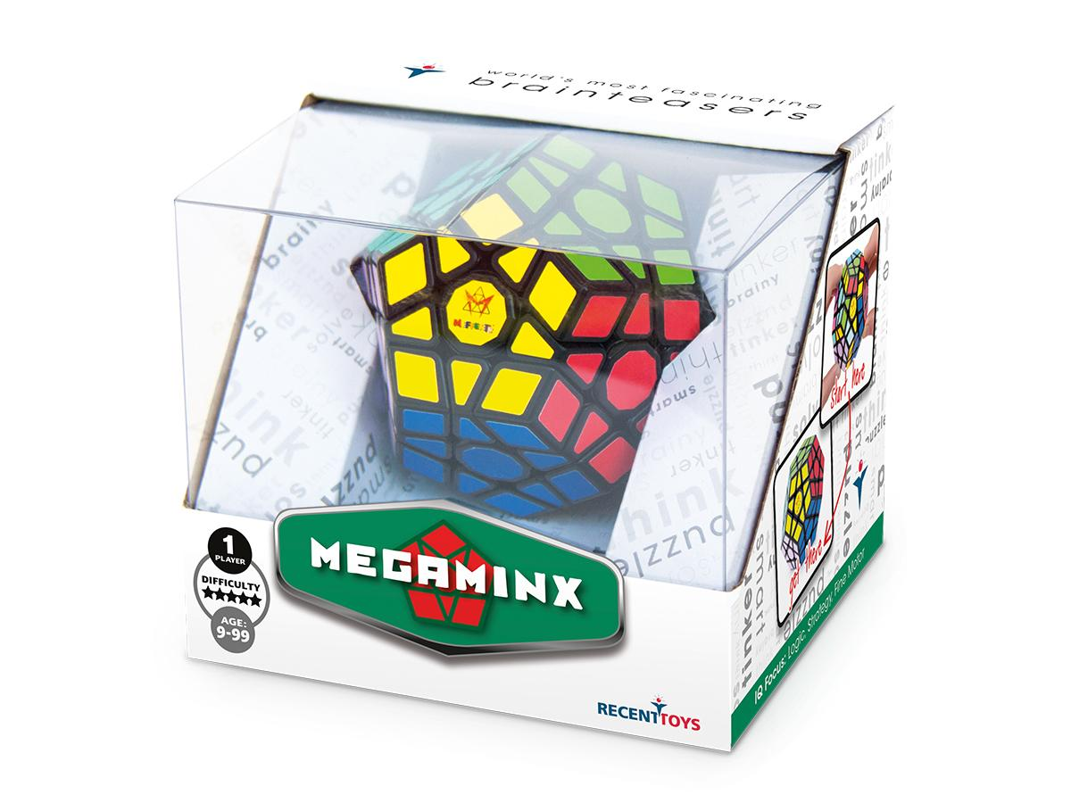 Megaminx puzzle  in manufacturer's packaging.