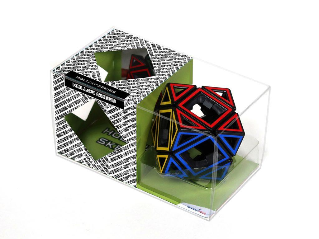Hollow Skewb puzzle in manufacturer's packaging.