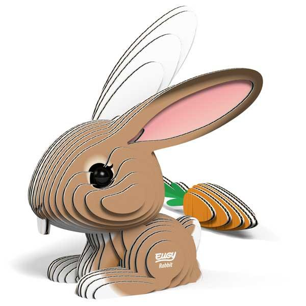 3d model of a Eugy rabbit with carrot