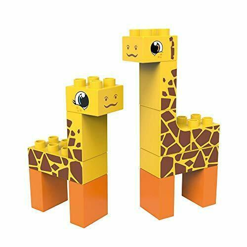 Giraffe and deer building blocks for young children. Blocks are eco-friendly.