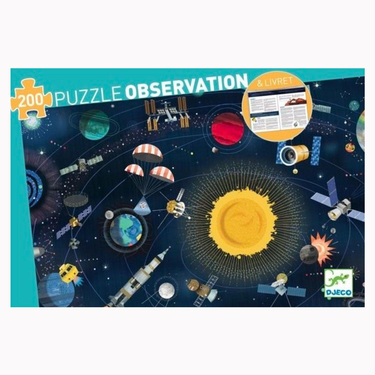 200 piece colourful space jigsaw puzzle