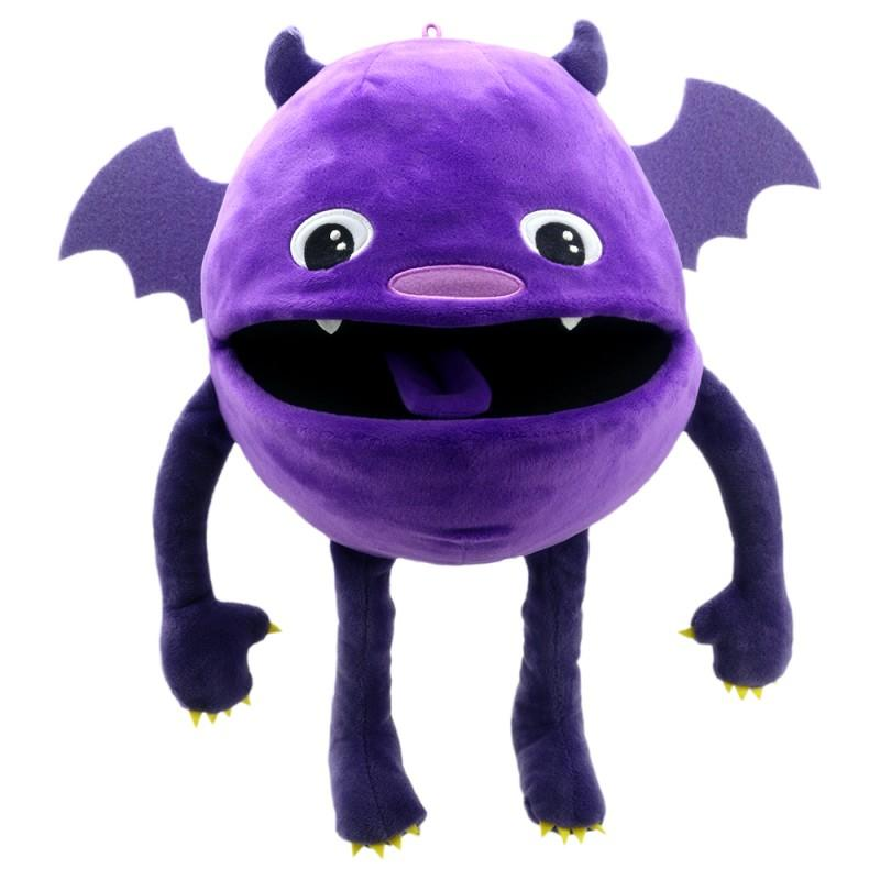 Cute, purple monster hand puppet