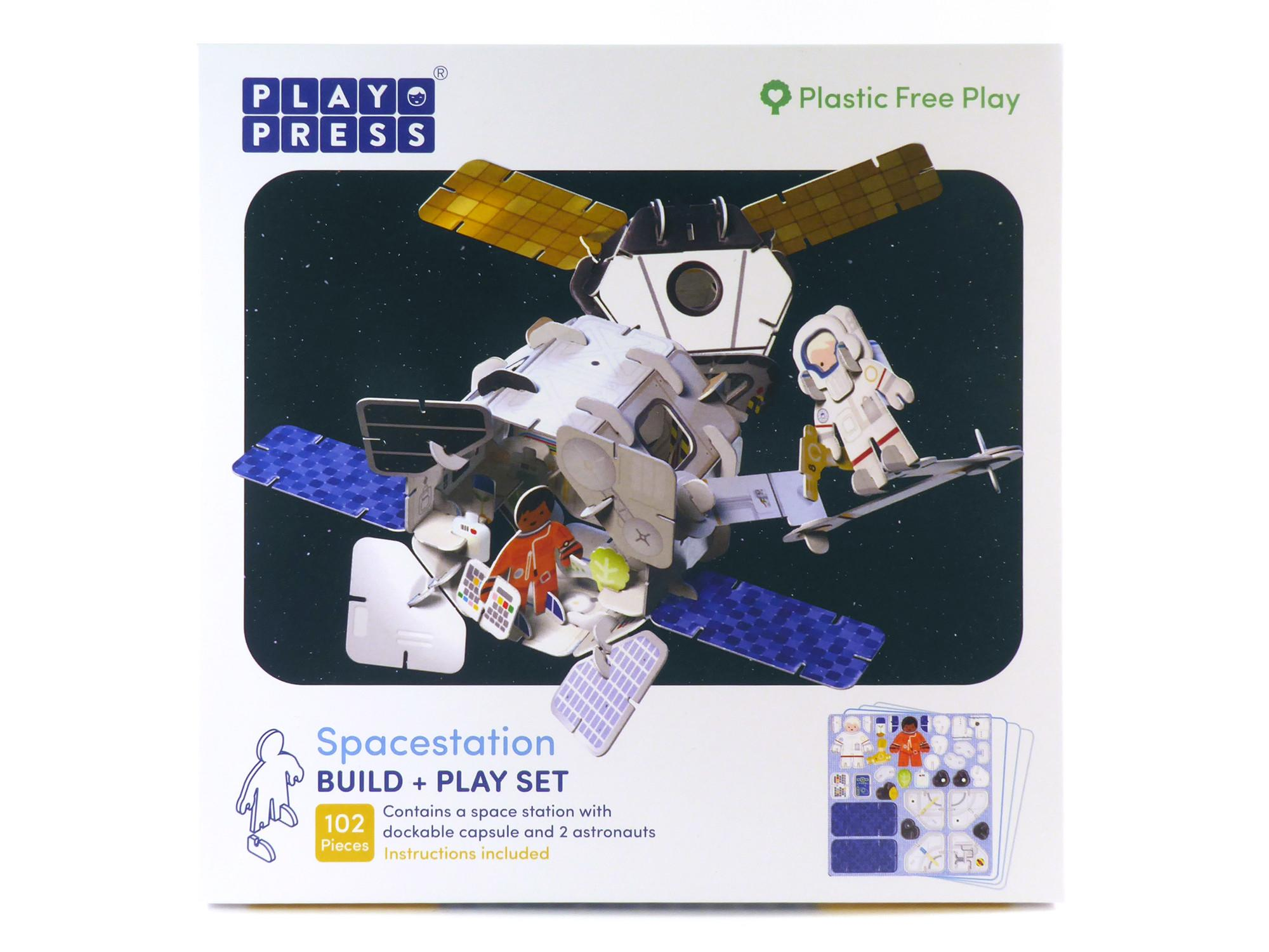 Box containg Play Press Space Station set.
