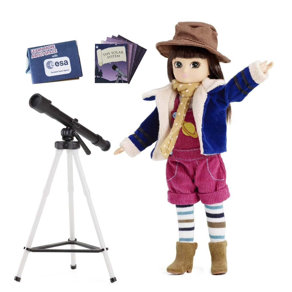 Stargazer Lottie Doll with telescope