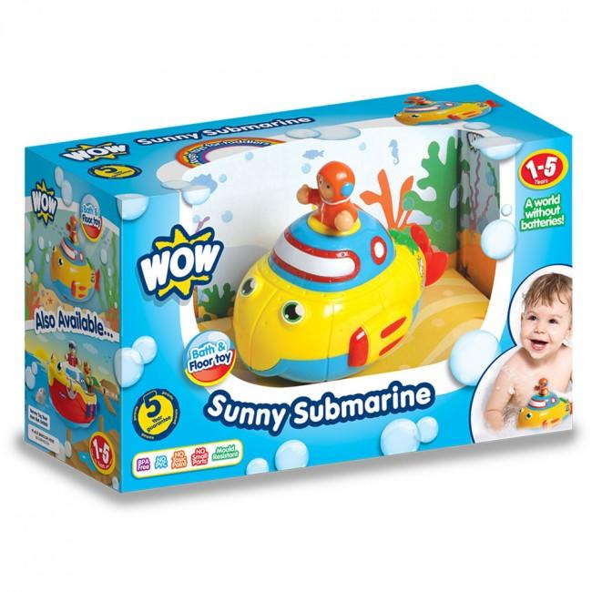 Packaging for yellow submarine toy.