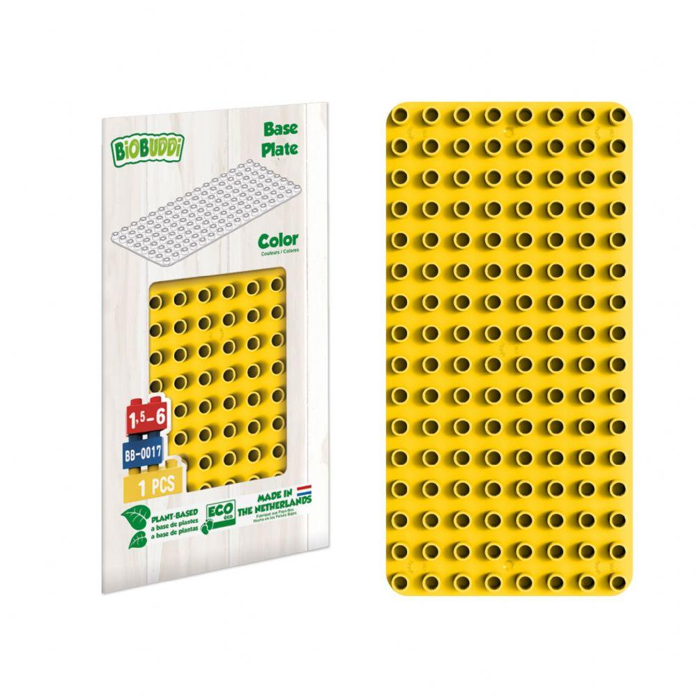 Yellow baseplate for Biobuddi and other building blocks.