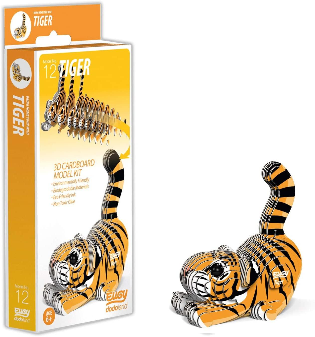 Box of Eugy Tiger with 3d model beside it.